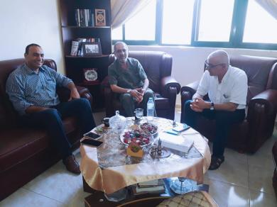 الفالوجي يلتقي بمكتبه السيد عمر شعبان والسيد محمد ابو جياب