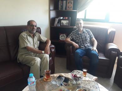 الفالوجي يستقبل الدكتور ياسر الاشقر