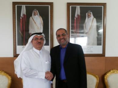 الفالوجي يلتقي بالسفير العمادي في مكتبه