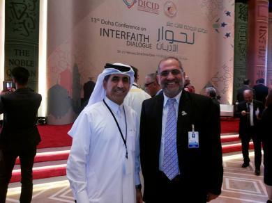 الفالوجي يشارك في فعاليات مؤتمر حوار الاديان