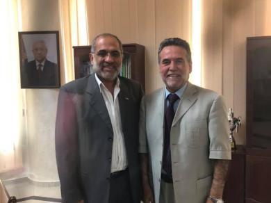 الفالوجي  يزور رئيس جامعة فلسطين
