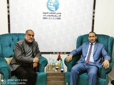 الفالوجي يزور رئيس منتدى العلاقات الدولية للحوار والسياسات