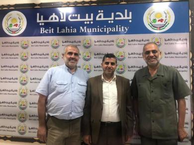 الفالوجي يزور رئيس بلدية بيت لاهيا